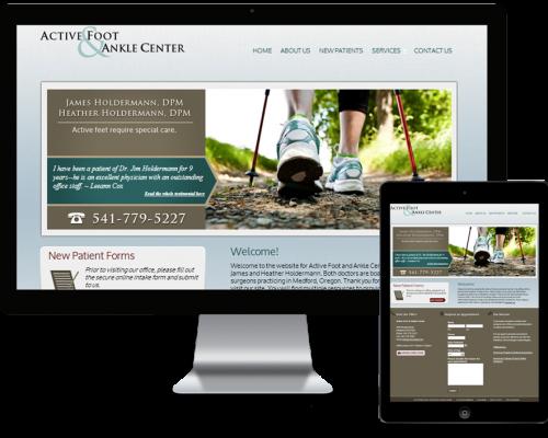 Active Foot Website – Built on Genesis