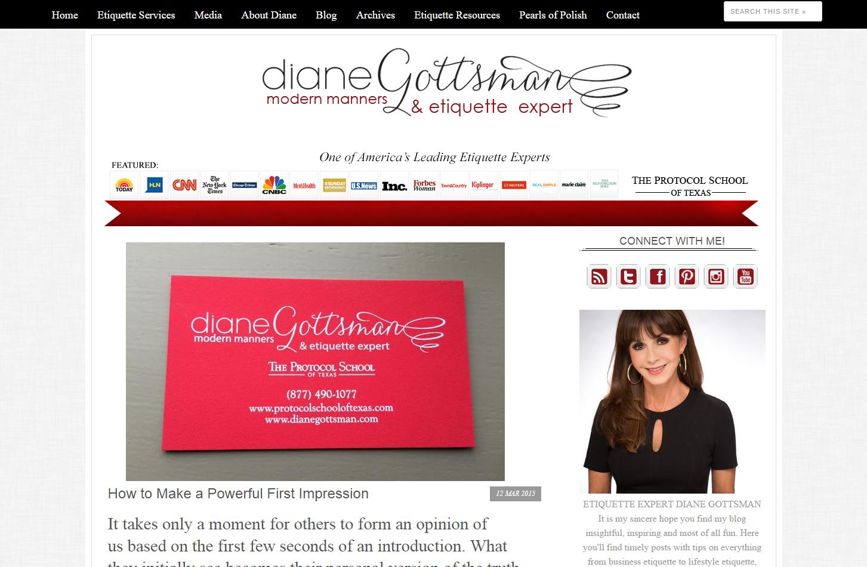Diane Gottsman 2014 Blog Redesign