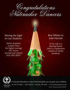 Nutcracker Ad for Local School